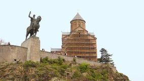 Висок Metekhi в Тбилиси видеоматериал