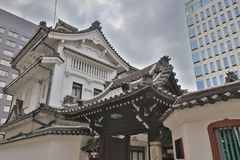 висок Mitsutera на Shinsaibashi Осака Японии Стоковая Фотография RF