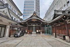 висок Mitsutera на Shinsaibashi Осака Японии Стоковое Фото