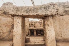 Висок Mnajdra megalithic в Мальте Стоковые Изображения RF
