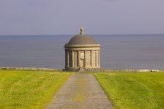 Висок Mussenden расположенный на покатом Demesne в графстве Лондондерри на северном побережье Ирландии Стоковые Изображения RF
