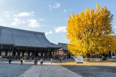 Висок Nishi Hongan-Ji - синтоистский висок в центре Киото - Хонсю - Японии Стоковая Фотография RF