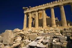 висок parthenon Афины стоковое изображение rf