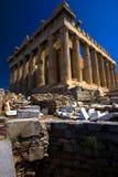 висок parthenon Афины стоковое фото rf