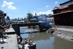 висок pashupatinath kathmandu Непала Стоковая Фотография