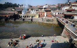 висок pashupatinath kathmandu Непала Стоковое Изображение