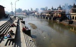 висок pashupatinath kathmandu Непала Стоковая Фотография RF
