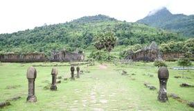 Висок Phou Vat в Лаосе стоковое изображение