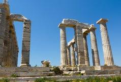 Висок Poseidon в Sounio Греции Стоковое фото RF