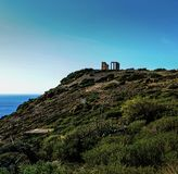 висок poseidon Греции стоковые фото