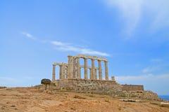 висок poseidon Греции Стоковая Фотография