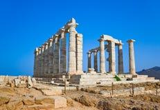 Висок Poseidon около Афиныы, Греции Стоковые Фотографии RF