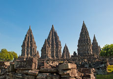 Висок Prambanan, Java, Индонесия стоковые изображения rf