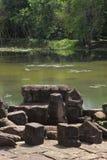 Висок Preah Khan в Angkor Wat Стоковая Фотография RF