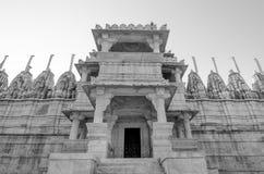 Висок Ranakpur Jain в Раджастхане, Индии Стоковое Изображение