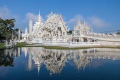 Висок Rong Khun, провинция Chiang Rai, северный Таиланд Стоковая Фотография