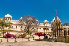 Висок Sathis Deori Jain на форте Chittor Раджастан, Индия Стоковые Изображения RF