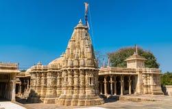 Висок Sathis Deori Jain на форте Chittor Раджастан, Индия Стоковое фото RF