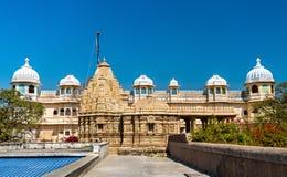 Висок Sathis Deori Jain на форте Chittor Раджастан, Индия Стоковое Изображение RF