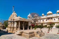 Висок Sathis Deori Jain на форте Chittor Раджастан, Индия Стоковая Фотография