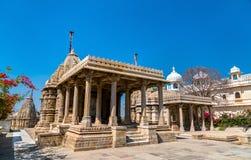 Висок Sathis Deori Jain на форте Chittor Раджастан, Индия Стоковые Изображения