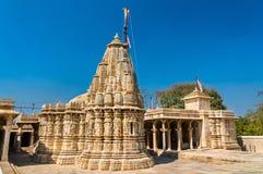 Висок Sathis Deori Jain на форте Chittor Раджастан, Индия Стоковая Фотография RF