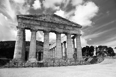 Висок, Segesta, Сицилия Стоковое фото RF