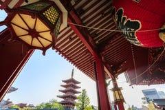 Висок Senso-ji в токио Стоковое Изображение
