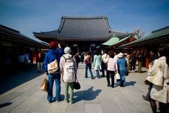 висок Senso-ji стоковое изображение rf