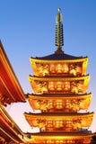 Висок sensoji буддийский, Asakusa Стоковая Фотография