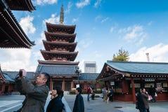 Висок Sensoji в токио, Японии Стоковые Изображения RF