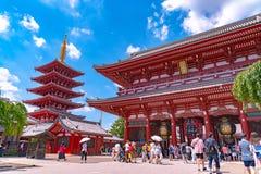 Висок Sensoji на Asakusa, Токио стоковое изображение rf