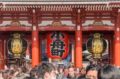 Висок Sensoji Asakusa в токио, Японии Стоковые Фотографии RF