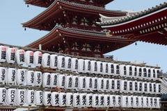 Висок Sensoji, Asakusa, токио, 4-ое апреля 2014 Стоковое Фото