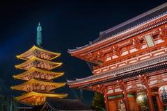 Висок Sensoji-ji в Asakusa Японии Стоковые Изображения