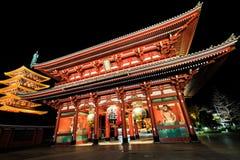 Висок Sensoji-ji красный японский в Asakusa, токио Стоковое Фото