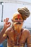 висок shaiva переднего sadhu милостынь изыскивая Стоковые Фотографии RF