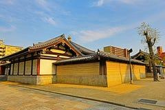 Висок Shitennoji в палате Tennoji, Осака Стоковое Фото