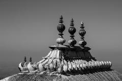 Висок shiv Kumbhalgarh monochrome, Раджастхан, Индия Стоковые Изображения RF