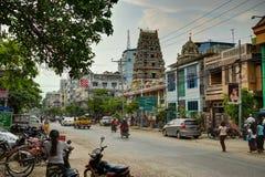 Висок Shri Kali в Янгоне Мьянме стоковые изображения rf