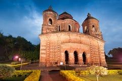 Висок Shyamroy, Bishnupur, Индия Стоковая Фотография