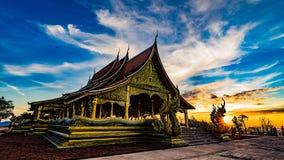 Висок Sirindhorn Wararam Phu Prao Стоковые Изображения RF