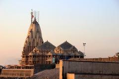 Висок Somanath на заходе солнца Стоковое Изображение