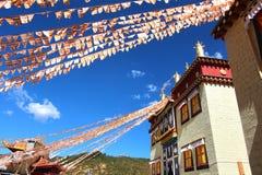Висок Songzanlin также известный как монастырь Ganden Sumtseling, тибетский буддийский монастырь в городе Zhongdian (Шангри-Ла),  Стоковое Фото