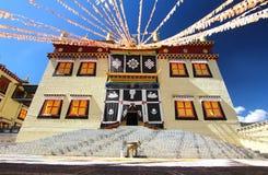 Висок Songzanlin также известный как монастырь Ganden Sumtseling, тибетский буддийский монастырь в городе Шангри-Ла Zhongdian, y Стоковые Изображения