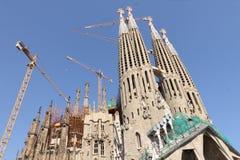 висок sp sagrada gaudi familia barcelona стоковые изображения