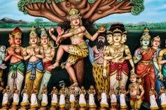 Висок Sri Mahamariamman индусский в Куалае-Лумпур Стоковые Изображения RF