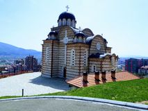 Висок St Dimitrija в Kosovska Mitrovica, Сербии, XXI столетие стоковая фотография rf