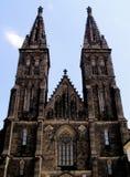 Висок St Peter и Пол в Праге Vysehrad Стоковое Изображение RF