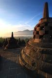 висок stupa borobudur Стоковое Фото